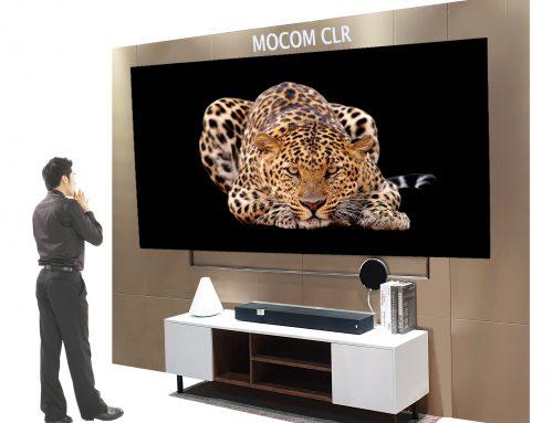 ㈜ 모컴테크,고선명 초단초점 프로젝터용 스크린, MOCOM CLR 스크린 국내 출시