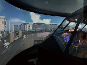 커브드스크린, 시뮬레이션스크린, 항공시뮬레이션, 빔프로젝터 커브드스크린