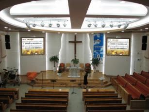 빔프로젝터스크린 교회스크린